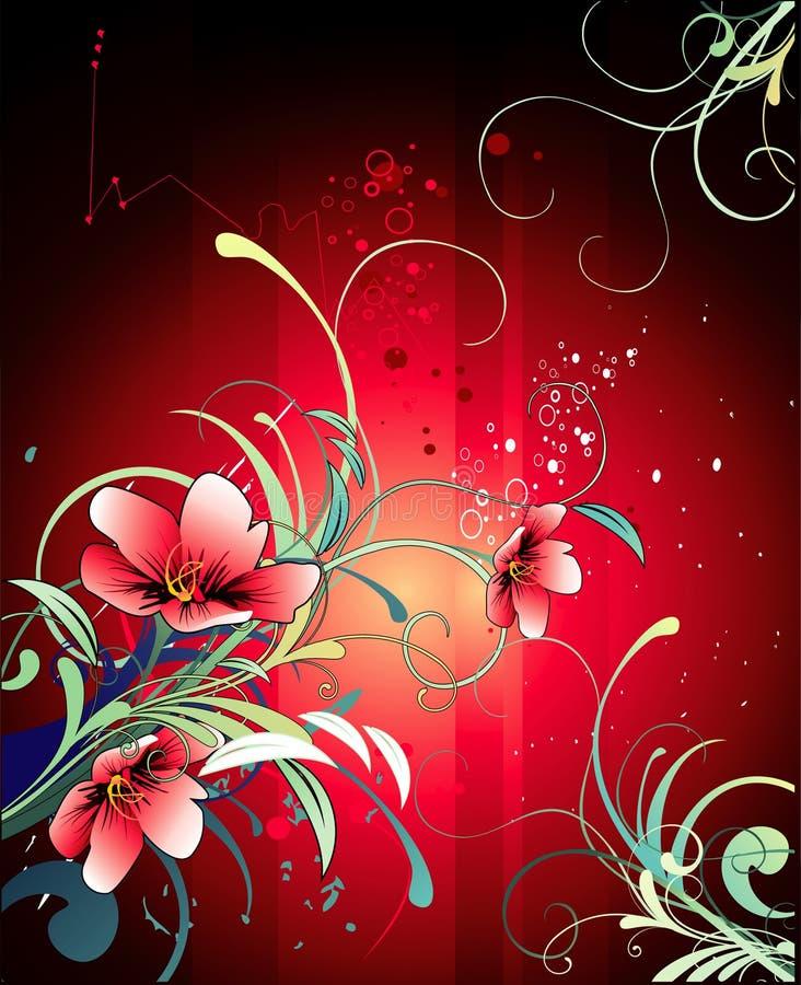 Background flower illustration stock illustration