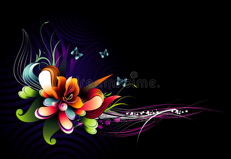 Background flower illustration royalty free illustration