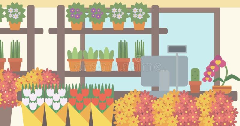 Background of flower shop stock vector illustration of for Flower shop design layouts