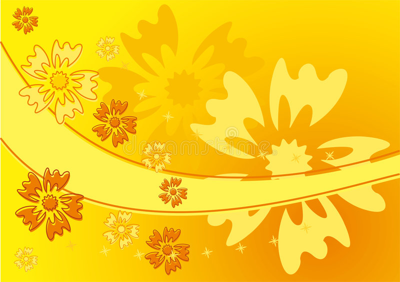 Background flower, vector stock illustration