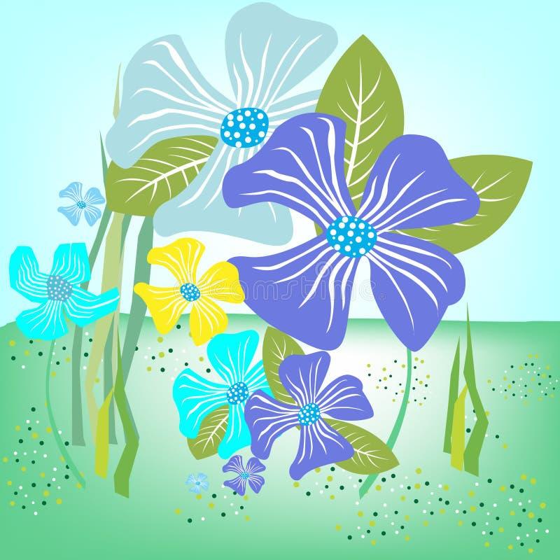 Background flowers royalty free illustration