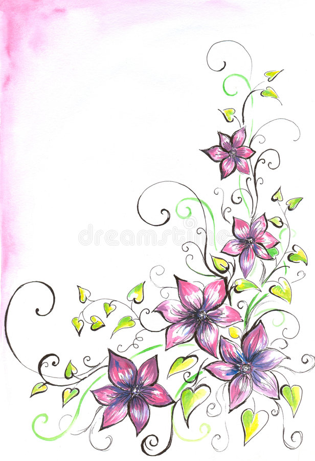 Background with flowers. royalty free illustration