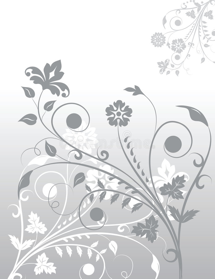 Background flowers vector illustration