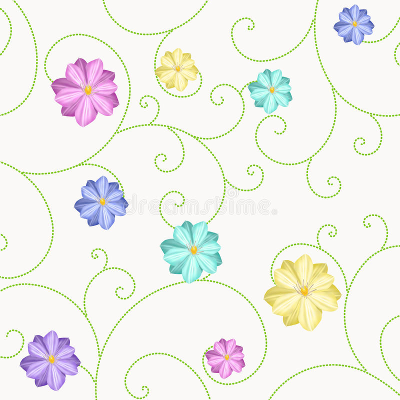 Download Background With Flowers And Curls Royalty Free Stock Photos - Image: 37654668