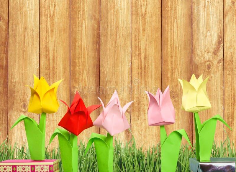 Cute origami flowers on background stock image image of greeting download cute origami flowers on background stock image image of greeting pink 112137231 mightylinksfo