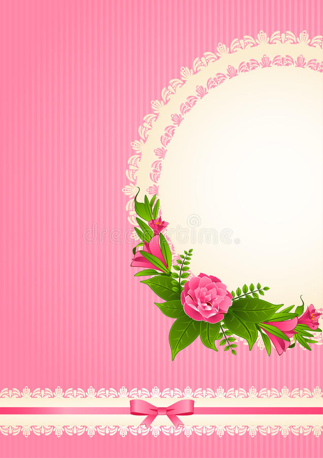 Background With Flowers And Ornaments Stock Photography