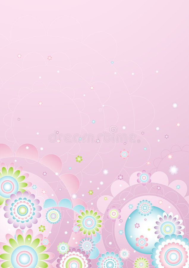 Background of flowers,vector royalty free illustration