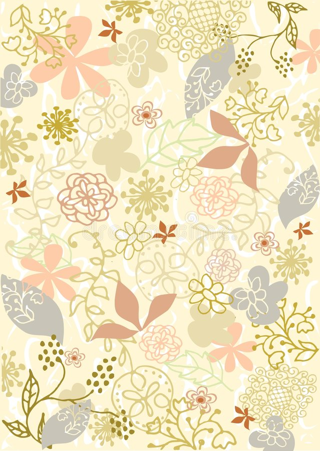 Free Background Flowers Vector Stock Image - 6476091