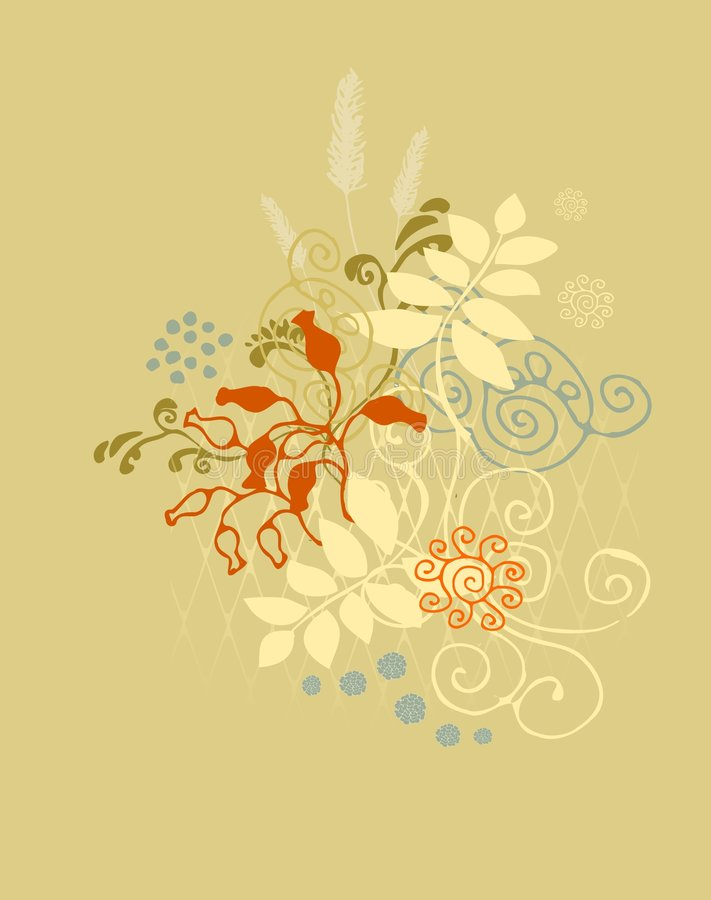 Free Background Flowers Vector Royalty Free Stock Images - 6476169