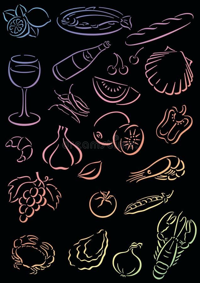 Download Background food stock illustration. Image of border, cook - 5665437