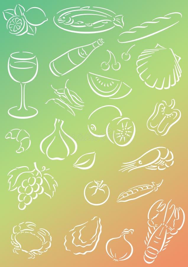 Background food royalty free illustration