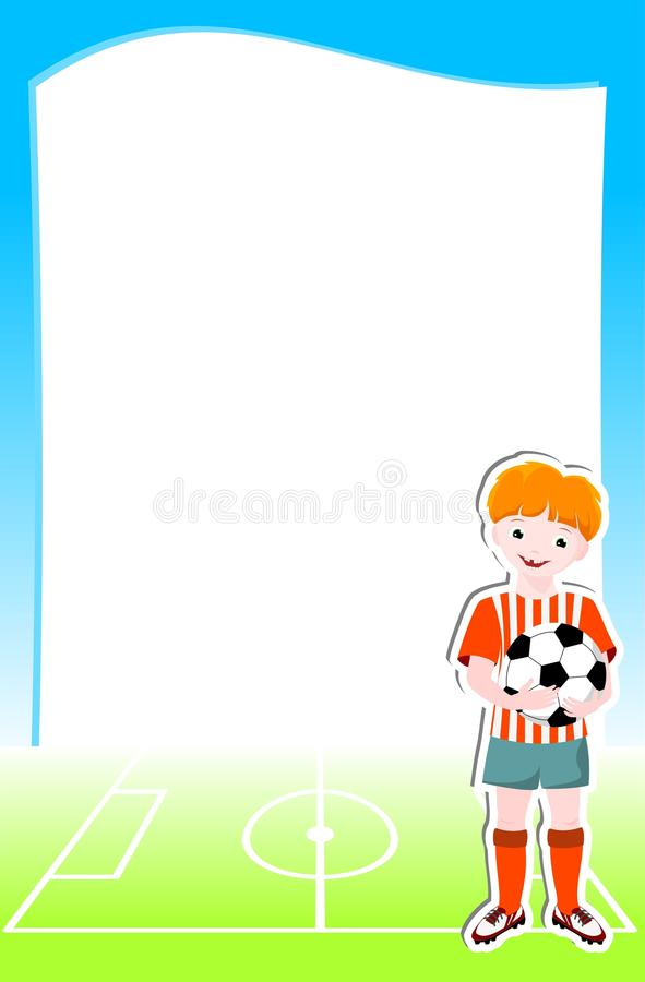 Background With Football Theme Royalty Free Stock Photography