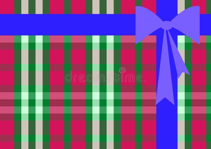 Background in the form of gift with bow stock photo