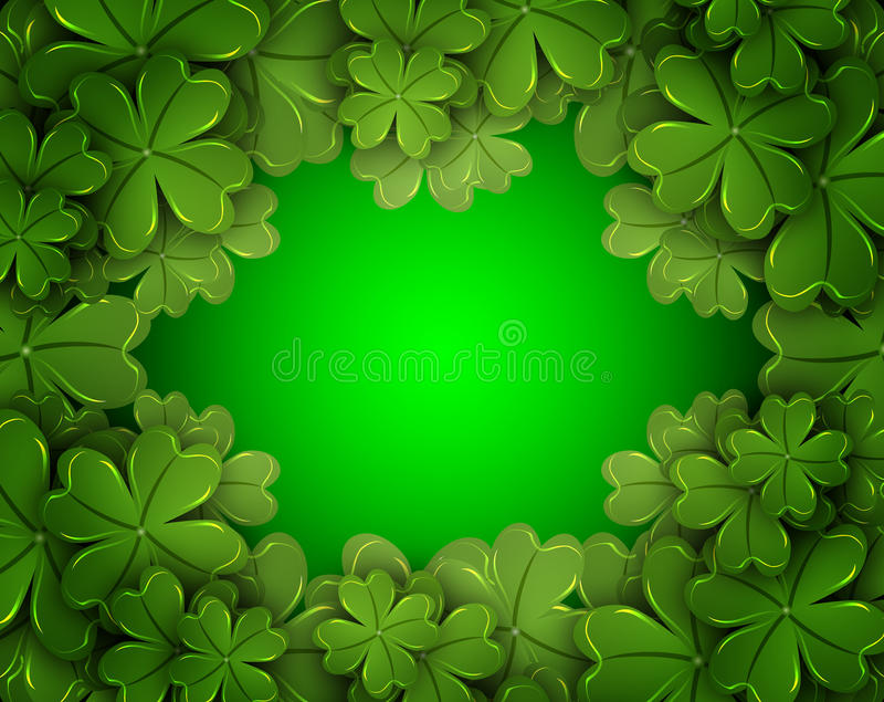 Background of the four-leaf clover royalty free illustration
