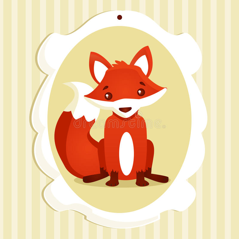 Download Background with fox stock vector. Image of character - 27371523
