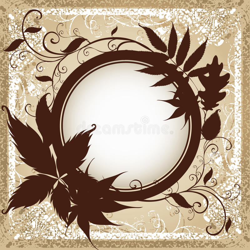 Background with frame with Autumn Leafs. royalty free illustration