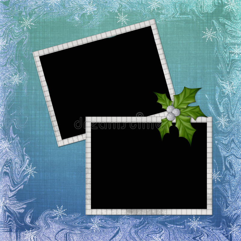 Background with frame and embellishment. In scrapbooking style stock illustration