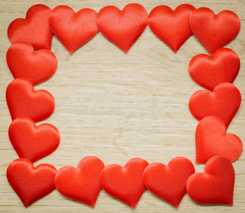 Background with frame of hearts, place for text royalty free stock image
