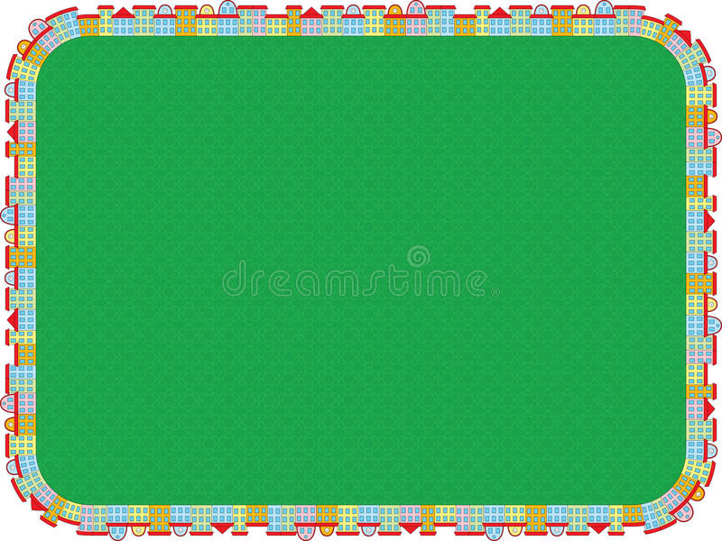 Download Background With Frame Made Of Buildings Stock Vector - Image: 29620793