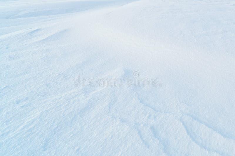 Background of fresh snow stock photo