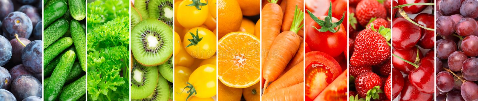 Background of fruits, vegetables and berries royalty free stock photography