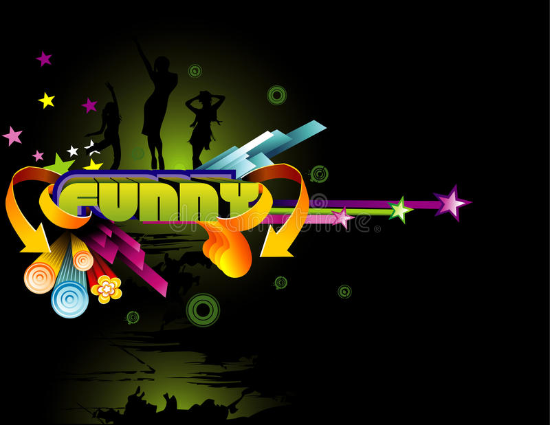 Download Background Funny Illustration Stock Vector - Illustration of colors, jump: 18645496