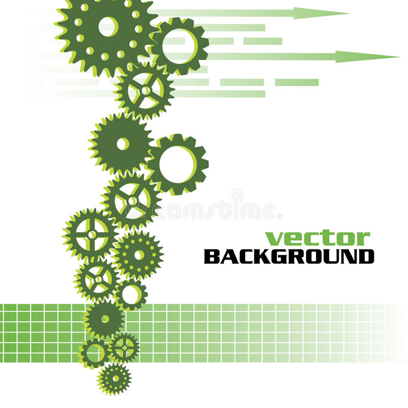 Background with gears vector illustration