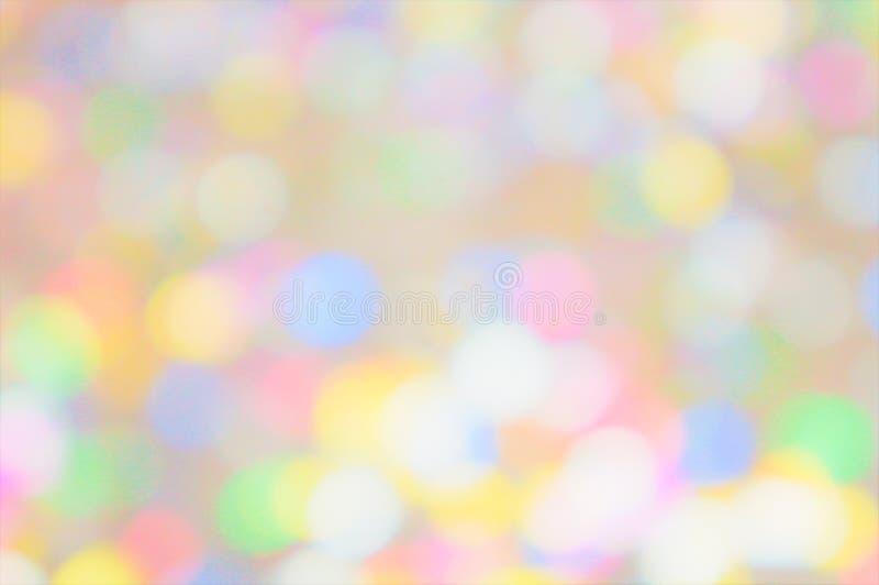Background gentle lights confetti. Blur stock photo