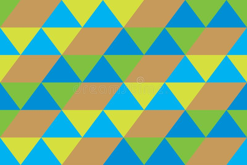 Background geomatric triangle texture green modern brown wallpaper blue royalty free illustration