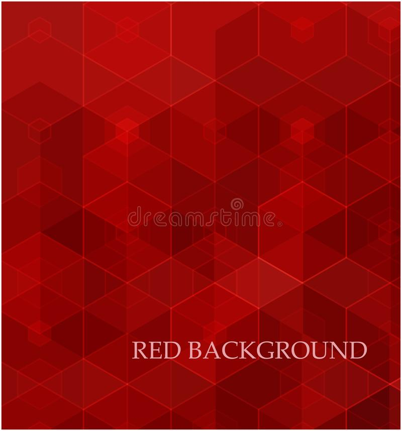 Background of geometric shapes. Red mosaic pattern. Vector EPS 10. royalty free illustration
