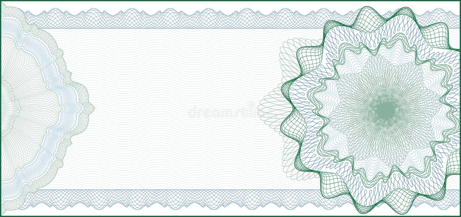 Background for Gift Certificate, Coupon stock illustration