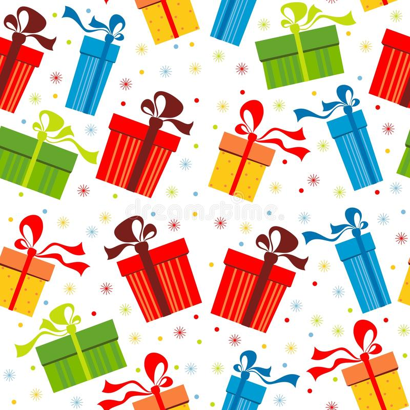 Background with gifts. Background with colorful boxes for gifts vector illustration