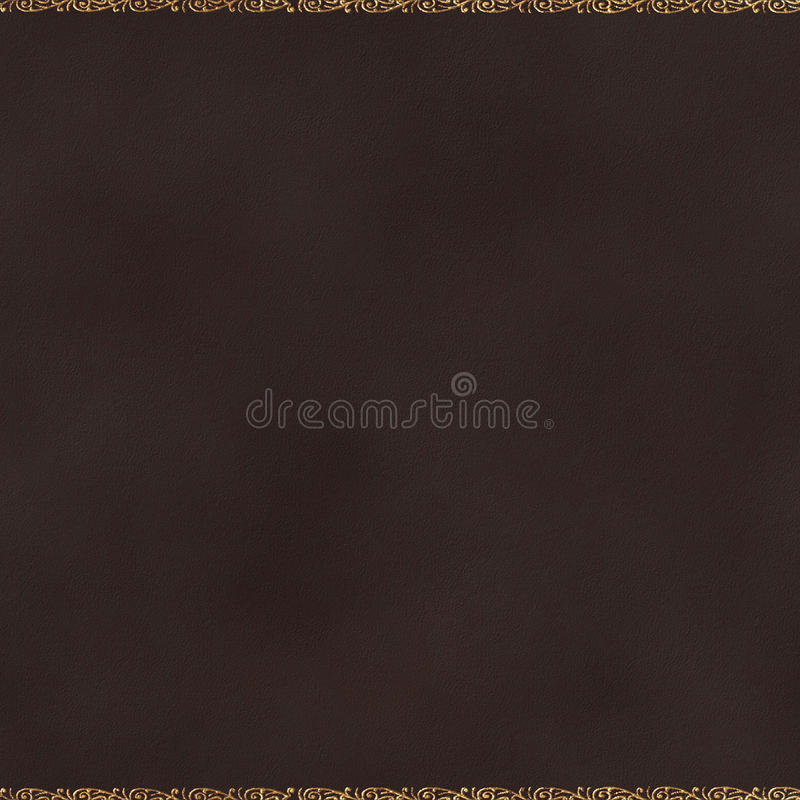 Background Gilt Leather royalty free stock image