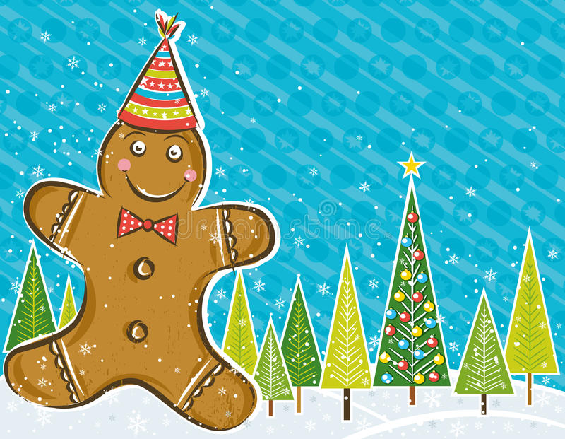 Download Background With Gingerbread Man, Stock Vector - Image: 16742324