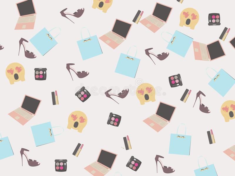 Background for girls, acstract shoe stock photography