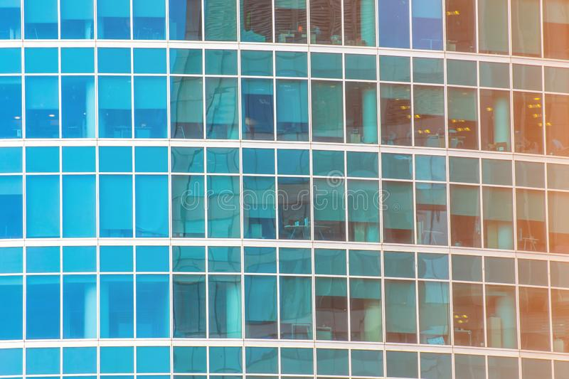 Background of glass windows of modern office building.  royalty free stock photos