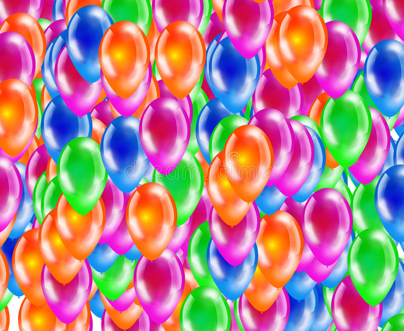 Download Background Of Glossy Colored Balloons. Stock Illustration - Image: 32099833