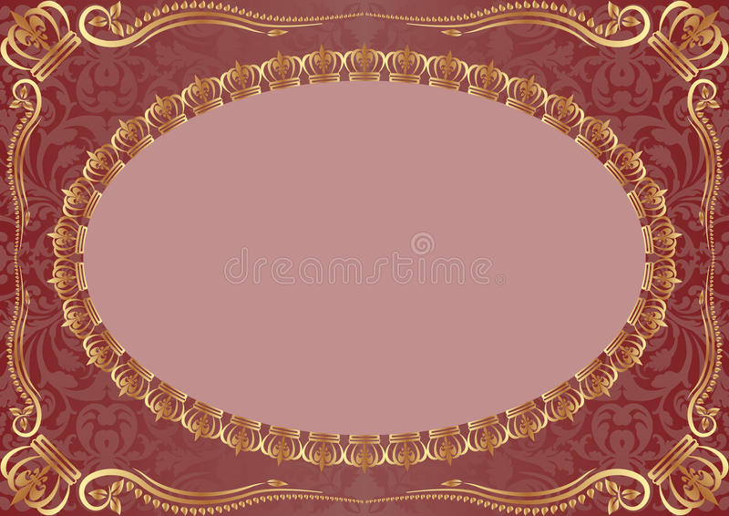 Download Background With Gold Ornaments Stock Vector - Image: 23500281