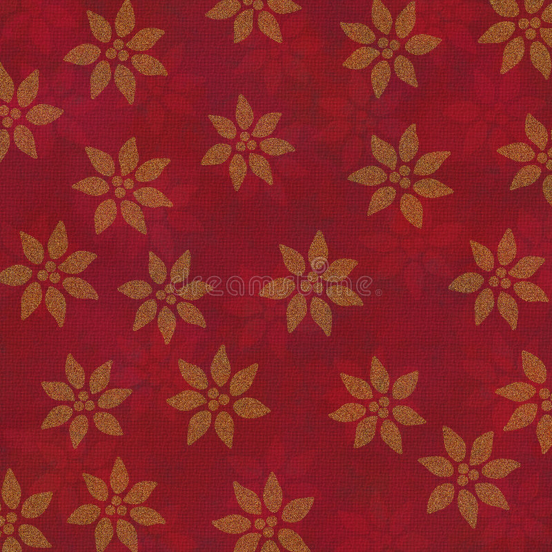 Background Gold Poinsettias royalty free stock photos