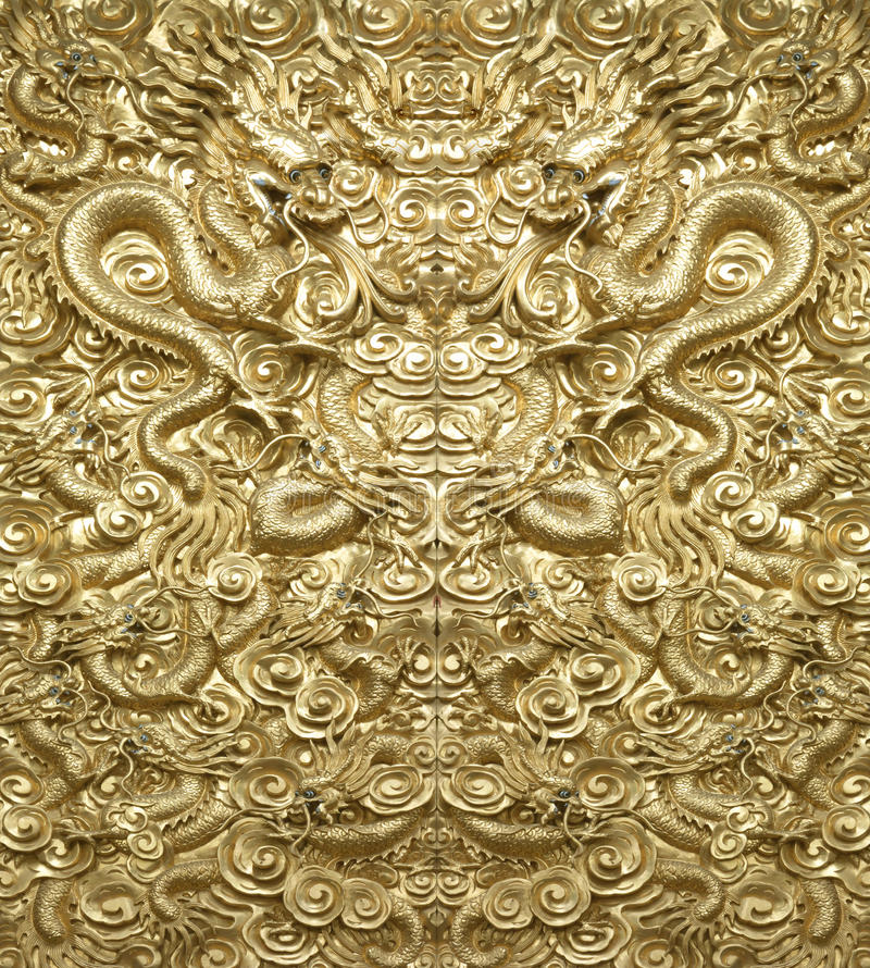 Background Golden Dragon. China's ancient architecture royalty free stock photography