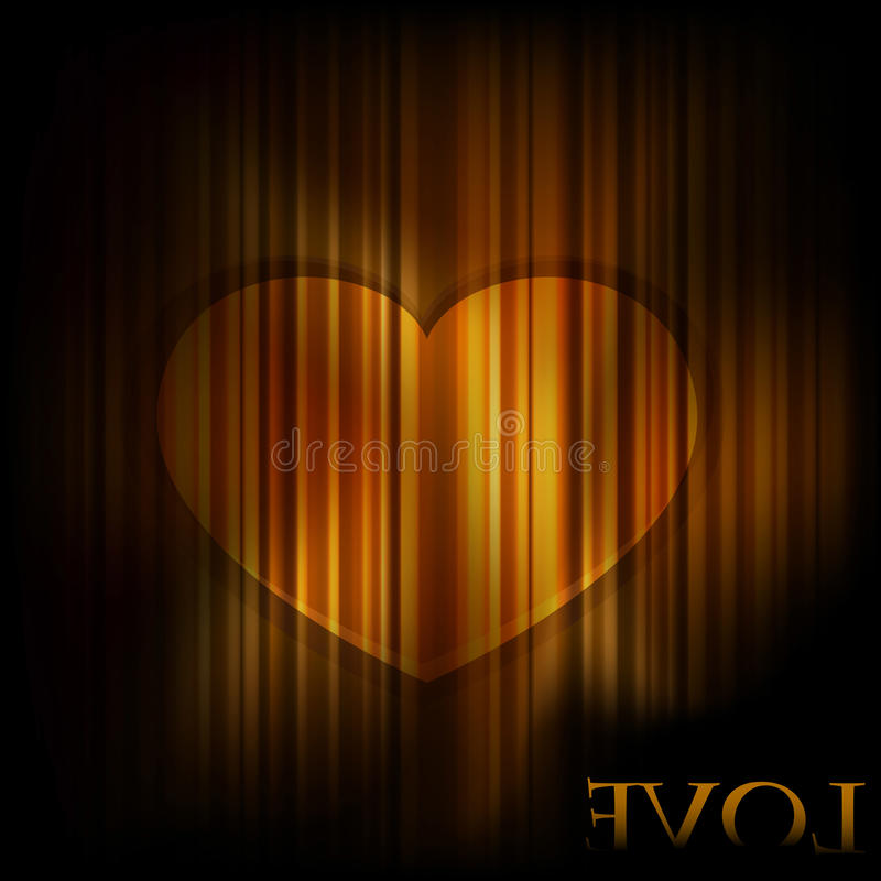 Background With Golden Heart Royalty Free Stock Photos