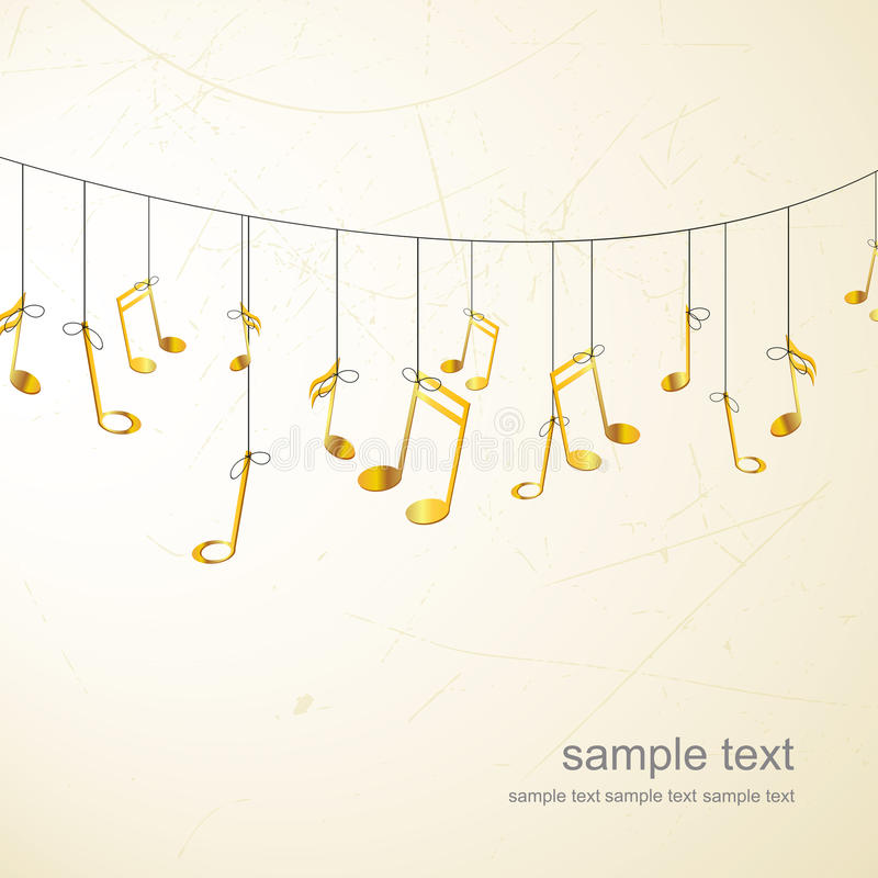Background with golden notes