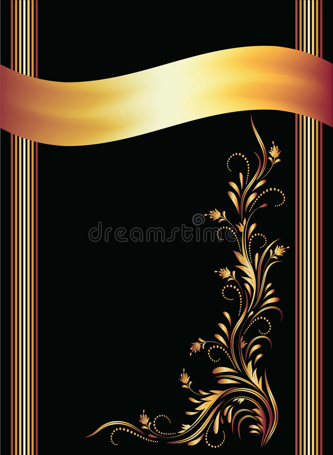 Download Background With Golden Ornament Stock Vector - Illustration of vector, artistic: 23039494