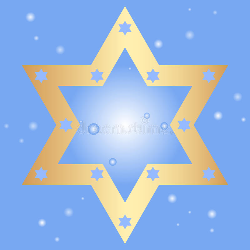Download Background With Golden Star Of David Stock Vector - Image: 27834078