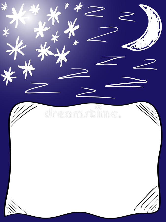 Background good night pillow