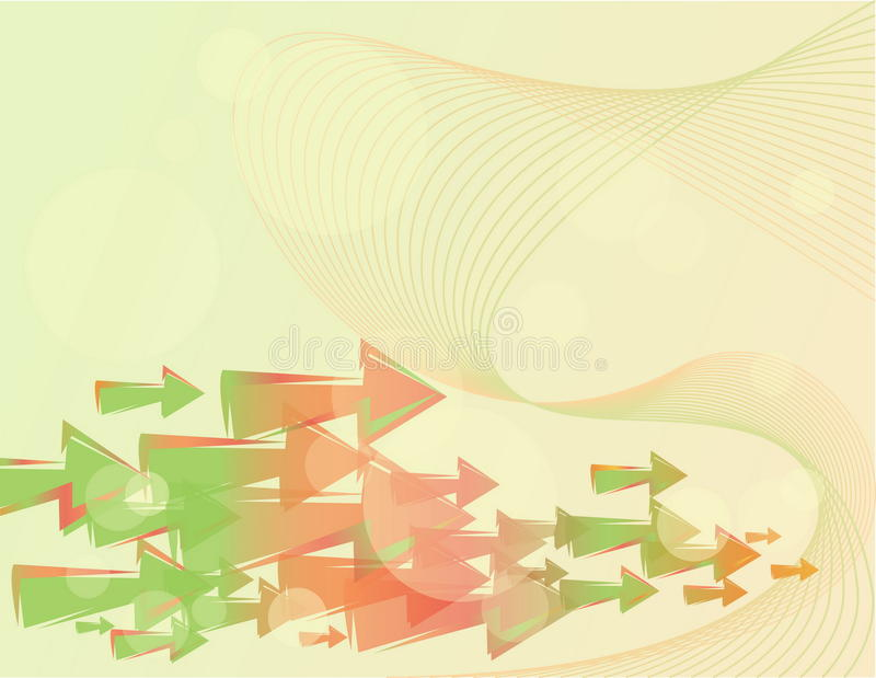 Background With Gradient Arrows Royalty Free Stock Photography