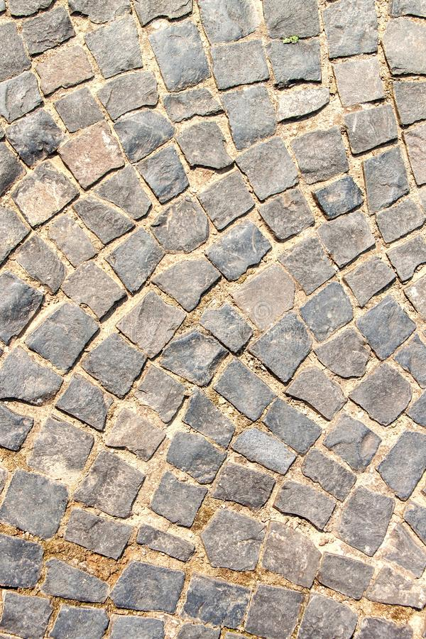 Background of granite cubes. Stone pavement road. Granite stones.  royalty free stock photos