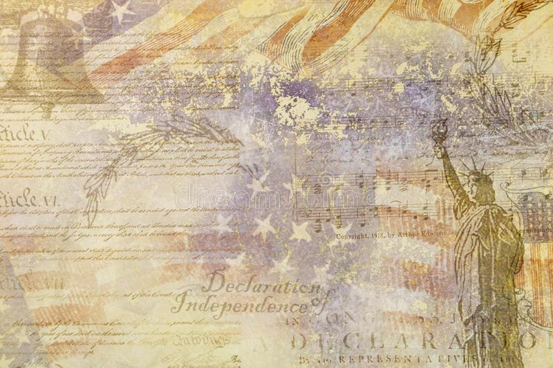 Graphic Resource Independence Statement July 4, USA vector illustration