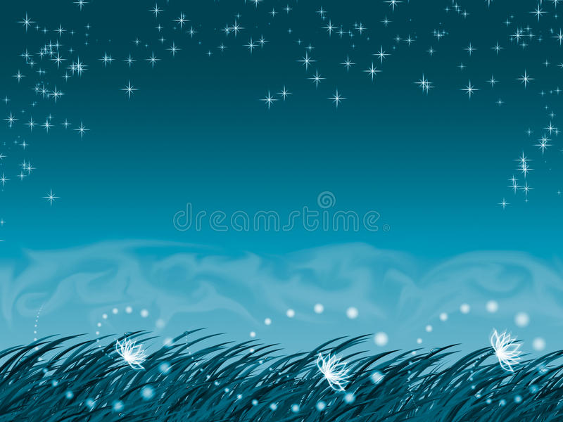 Download Background With Grass And Fog Stock Illustration - Image: 19990590