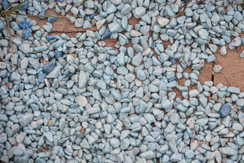 Background of gravel on the boards stock images